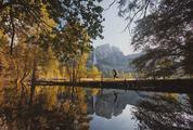 Beautiful View of Yosemite Falls