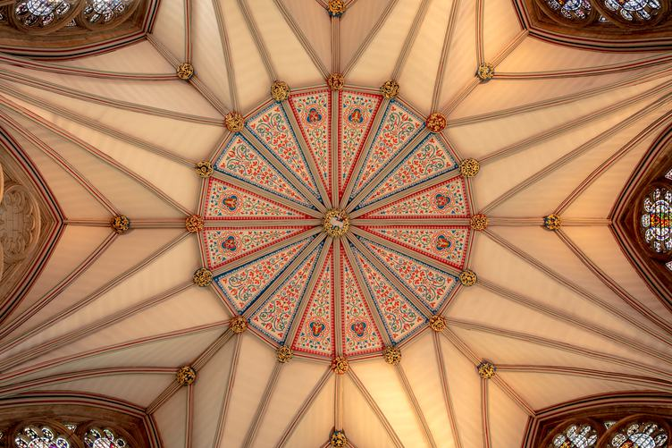 York Minster Chapter House Decorative Ceiling