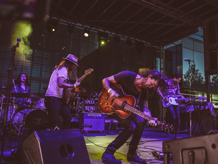 Guitarists at Rock Concert