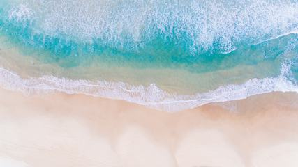 Beach and Tropical Turquoise Ocean