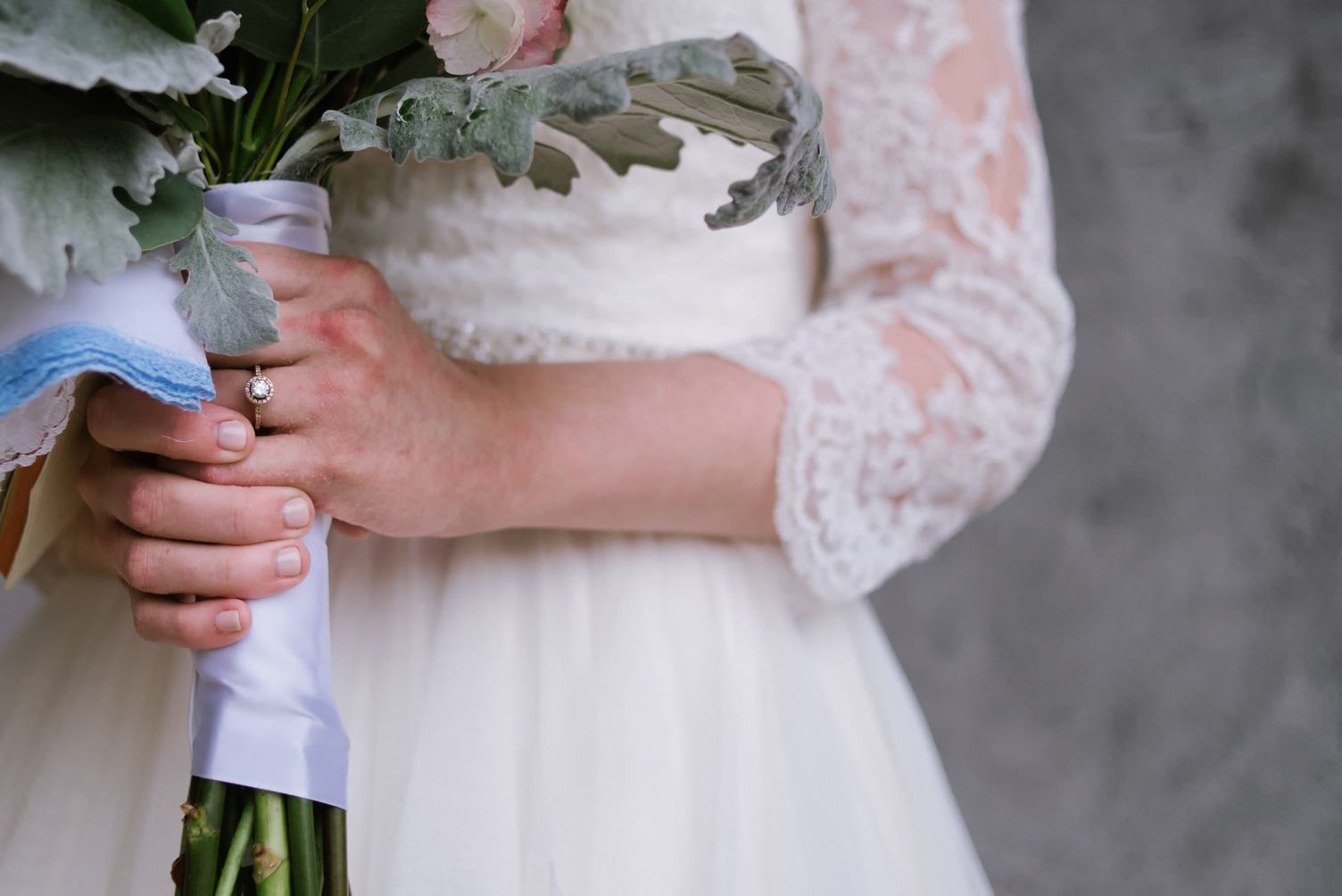 Wedding Bouquet in Bride Hands