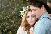 Wedding Couple Hugging, Face Closeup