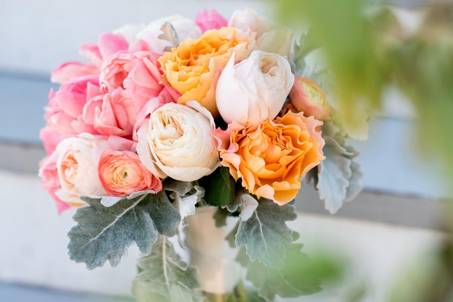 Beautiful Fresh Pink and Orange Roses