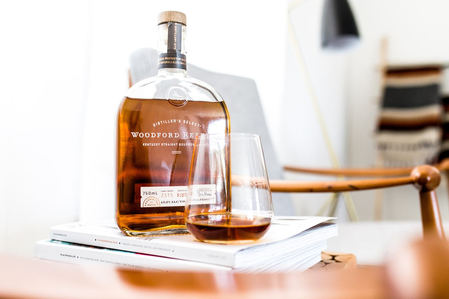 Glass of Woodford Reserved Bourbon