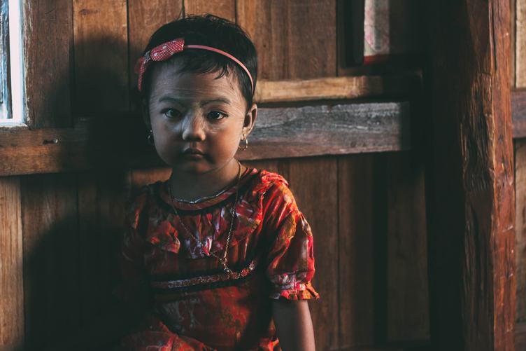 Intha Little Girl from Burma