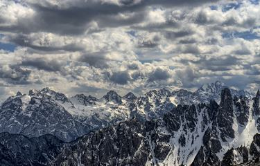 Dolomite Mountains Panorama, Italy