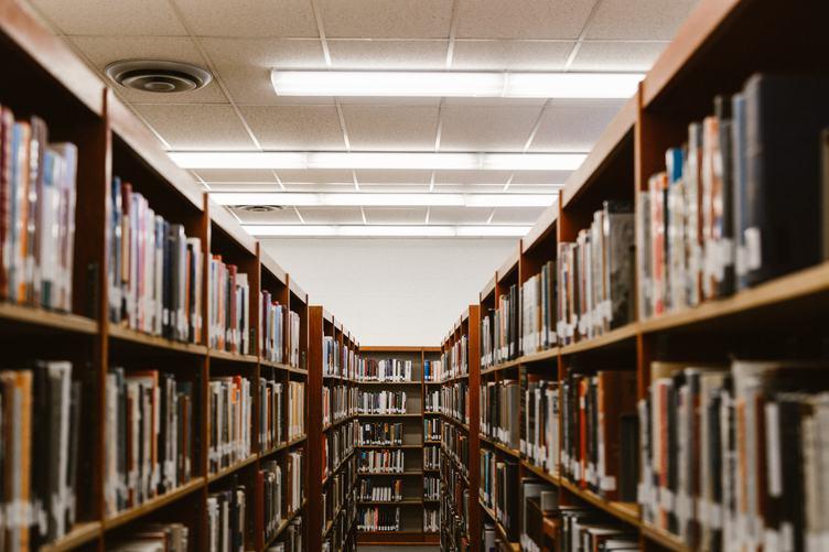Bookshelfs in Library