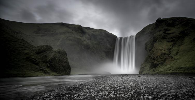 Skogafoss Waterfall on Skoga River, Iceland