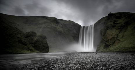 Skogafoss Waterfall on Skoga River, Iceland