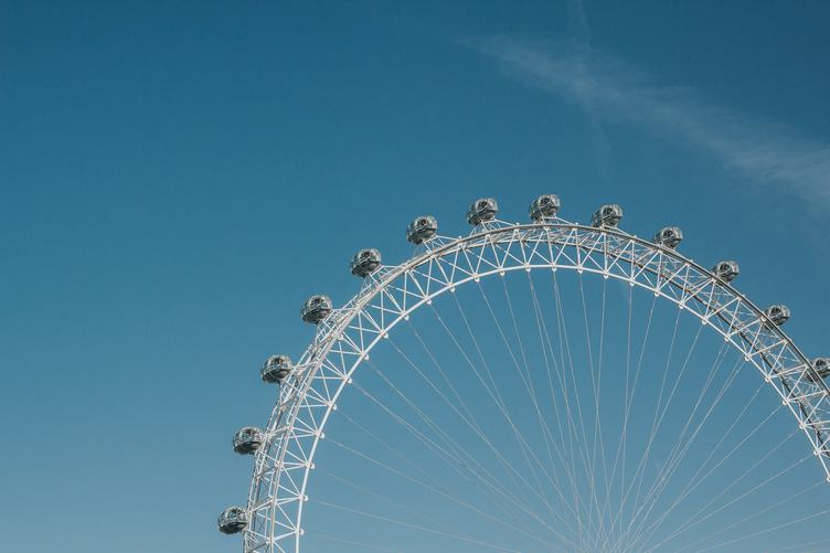 London Eye Ferris Wheel at the Blue Sky