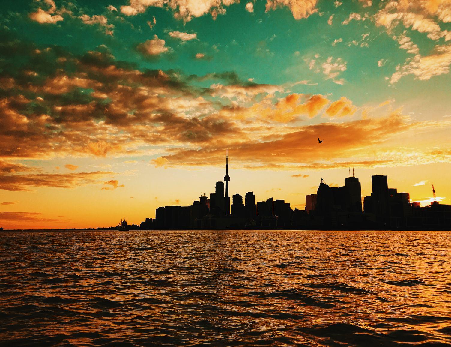 Sunrise Over Toronto, City Skyline, Ontario, Canada
