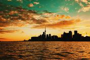 Sunrise Over Toronto, City Skyline, Ontario, Canada
