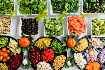 Top View of Salad Bar
