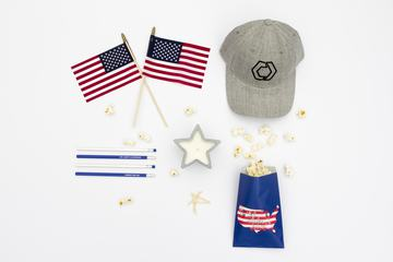 USA Independence Day Decorations, Flat Lay