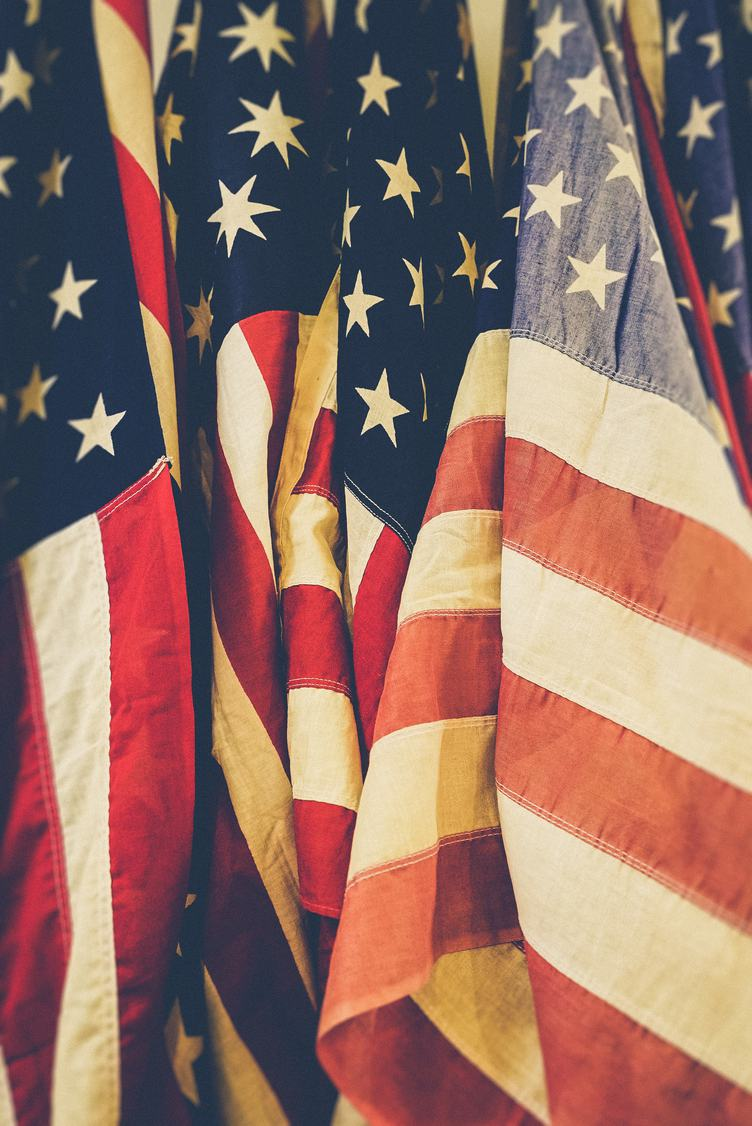 Faded Flags of United States of America