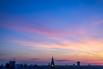 Sky at Sunset over London City