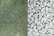 White Stones and Tiny Mosaic Tiles