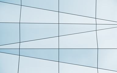 Geometric Modern Glass Facade