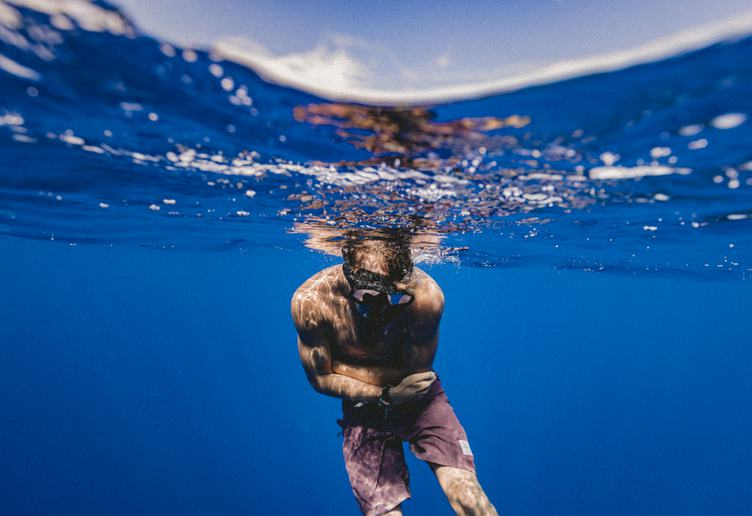 Underwater Shoot of a Young Man