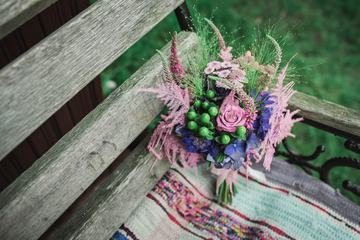 Little Bouquet on the Bench