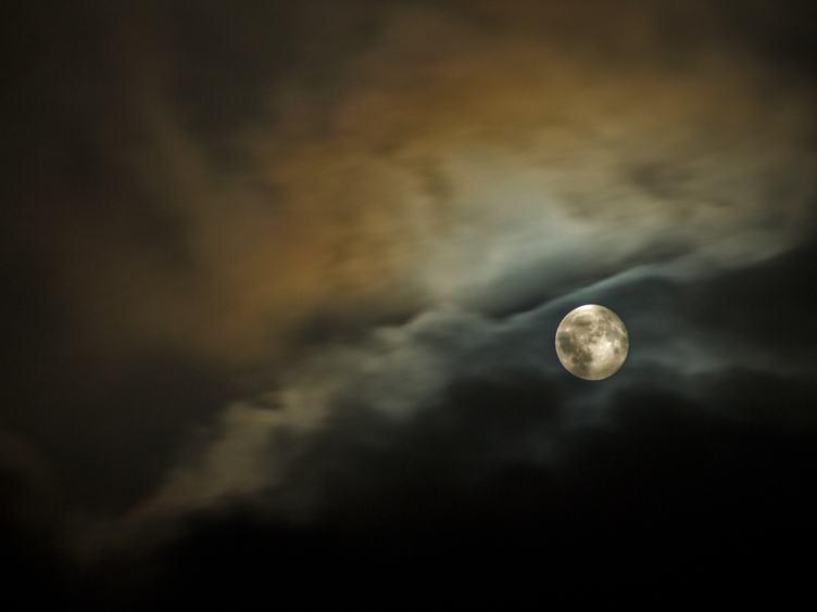 Lunar in Dark Night