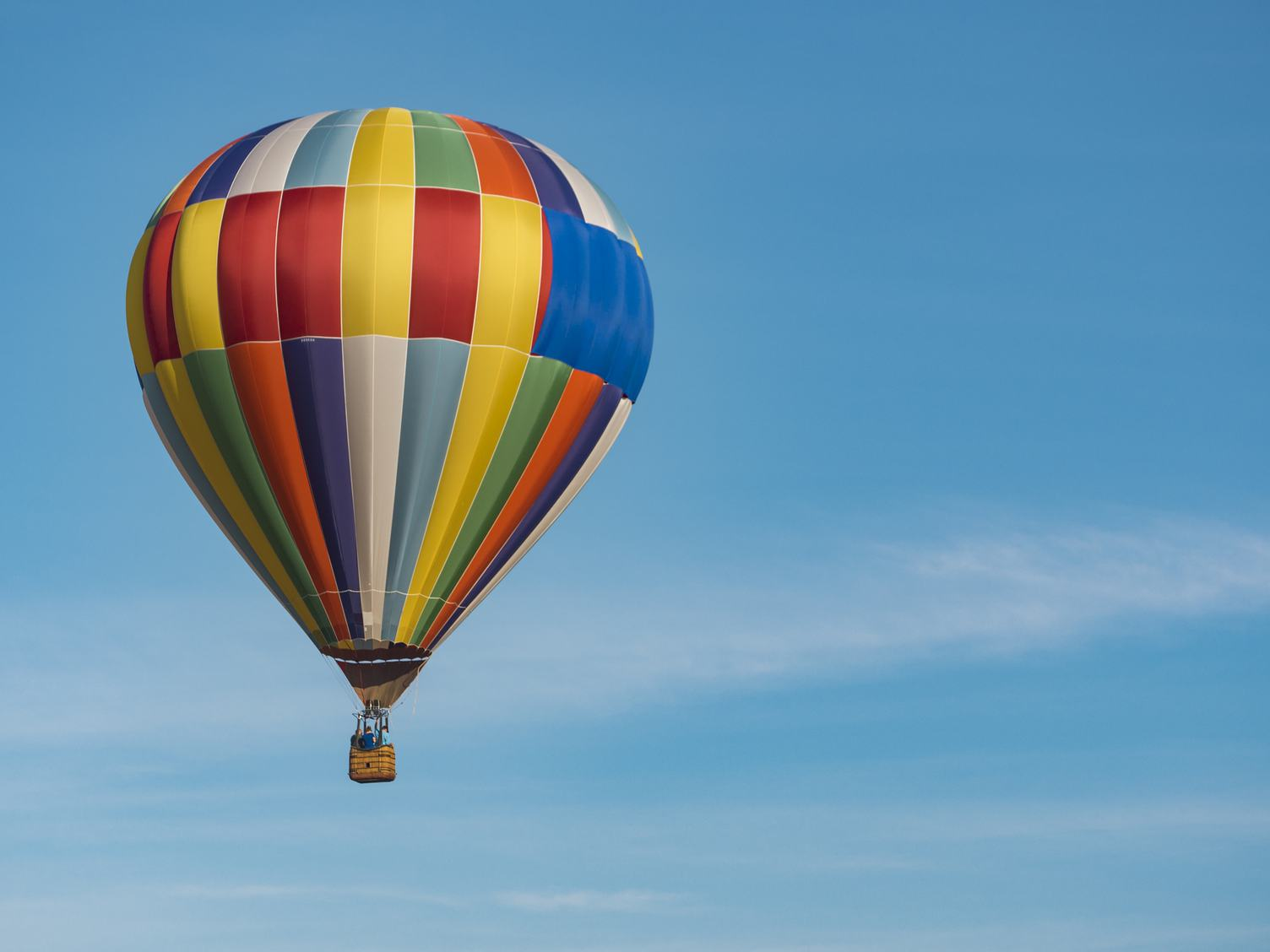 Hot-Air Balloon against Blue Sky