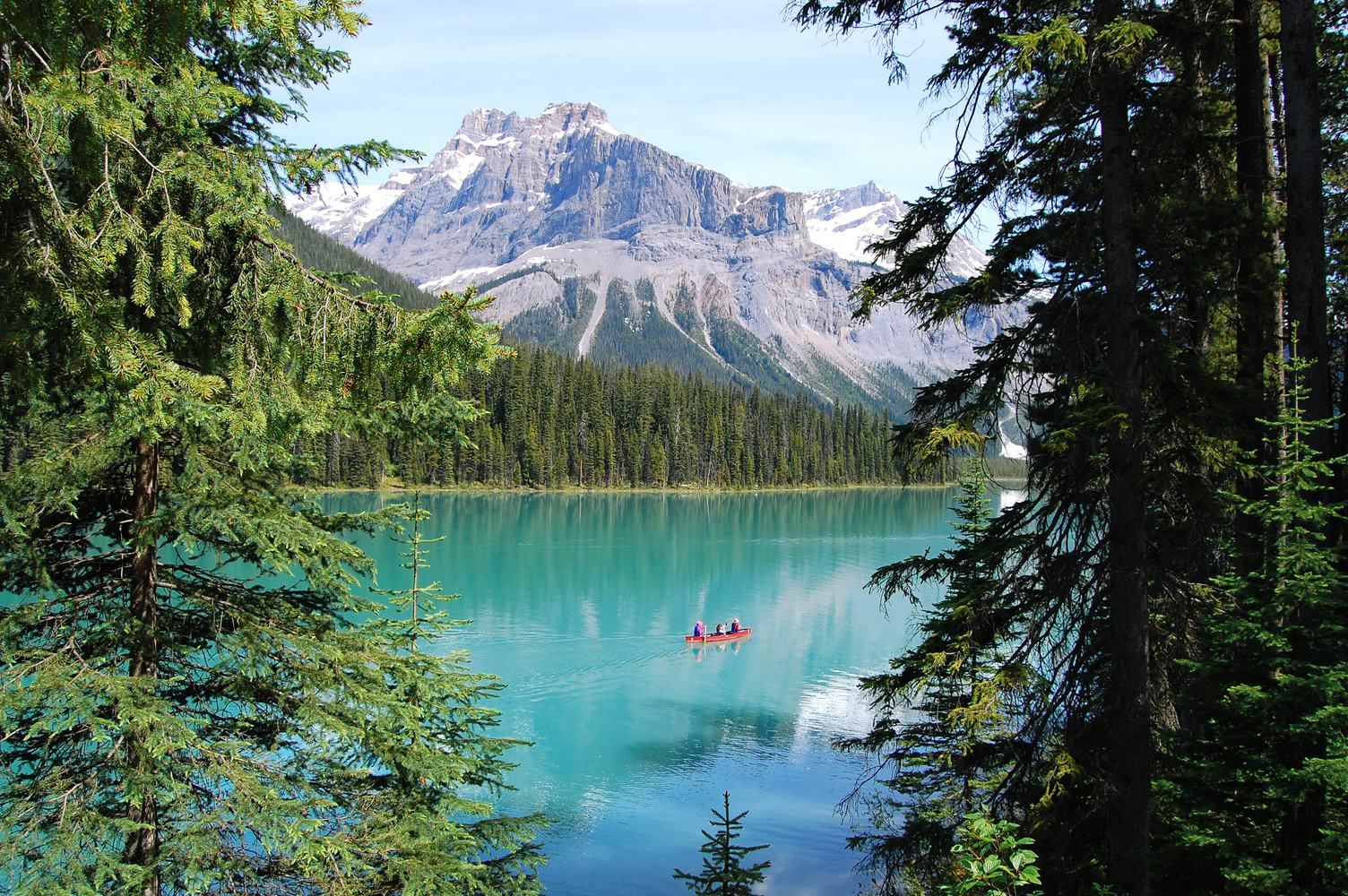 Canoe Trip on Emerald Lake, Yoho National Park, Canada