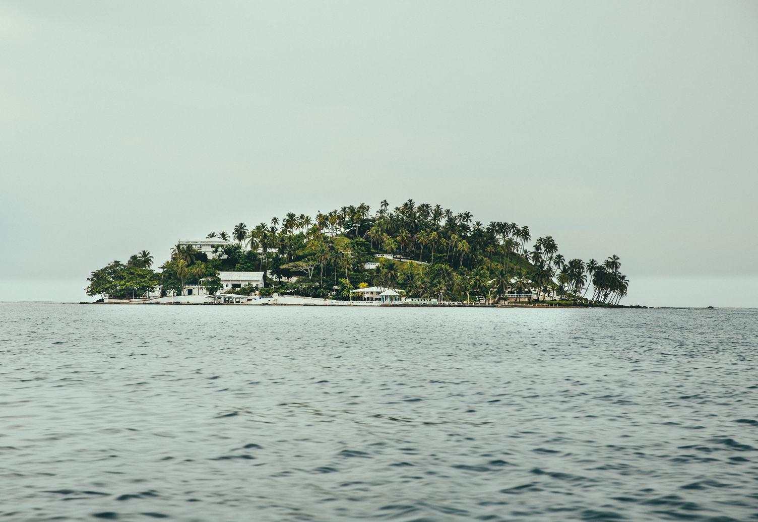 Small Tropical Island in the Caribbean Sea near Panama