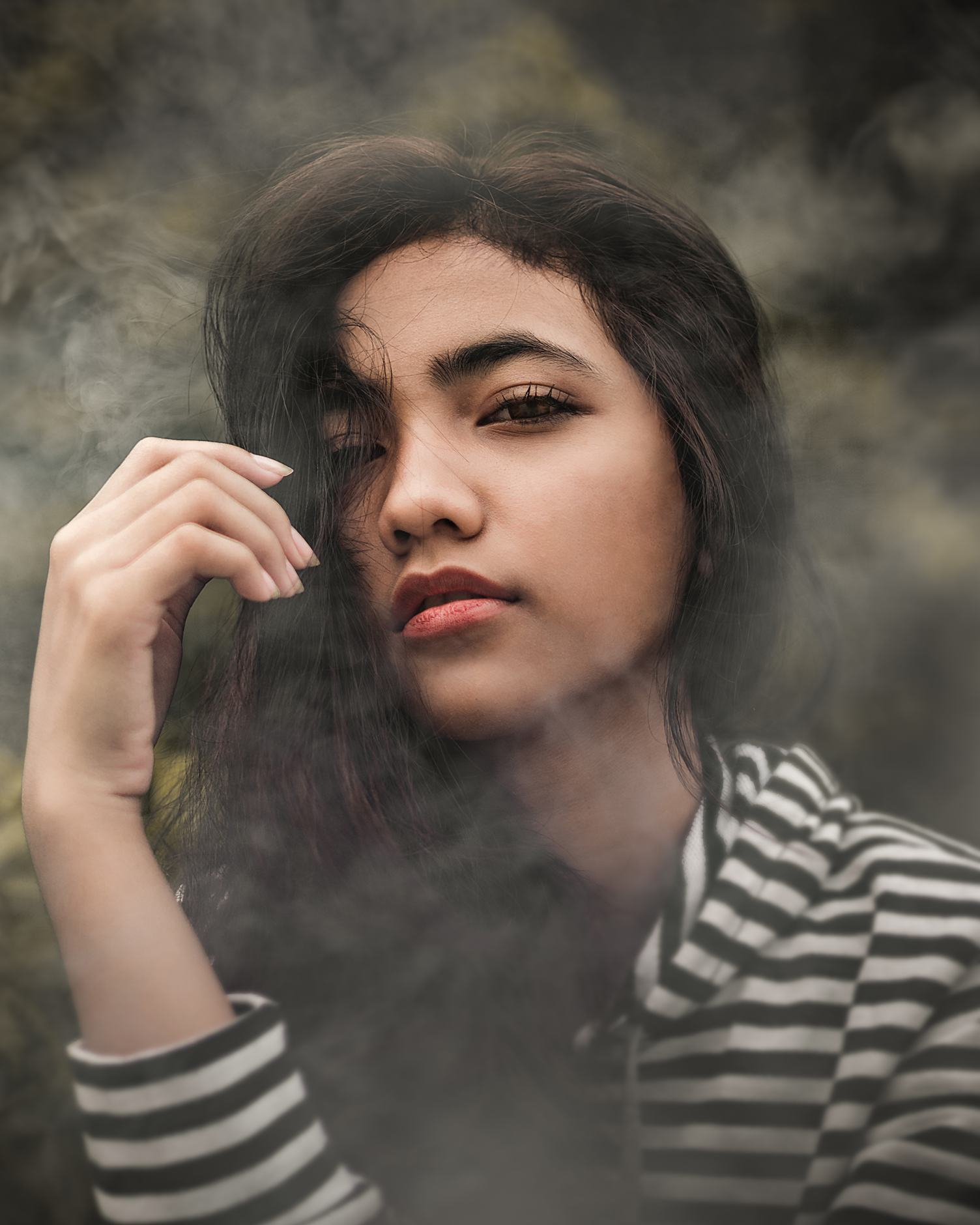 A Mysterious Portrait of an Indonesian Girl