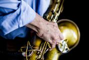 Saxophonist Playing Jazz Music