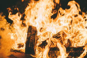 Burned Wood Fire