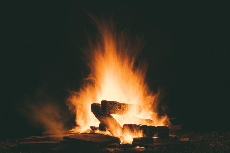 Beautiful Fire Camp