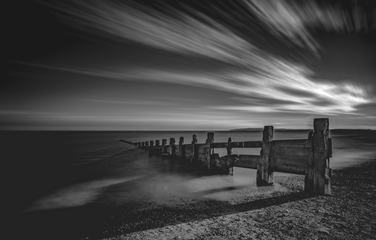Amazing Black and White Long Exposure Beach Image