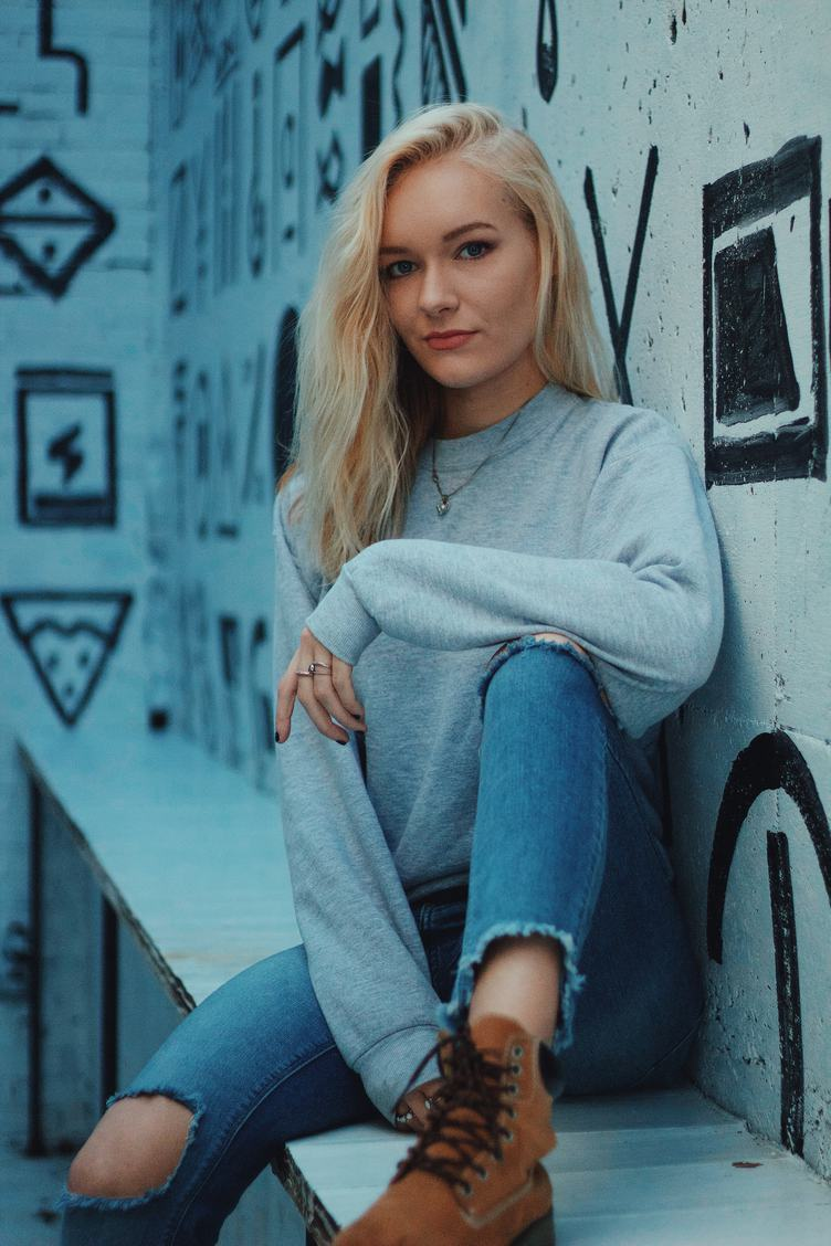 Portrait of Sitting Blonde