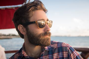 Bearded Man Wearing Sunglasses