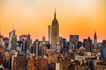 Manhattan, New York City Skyline at Sunset
