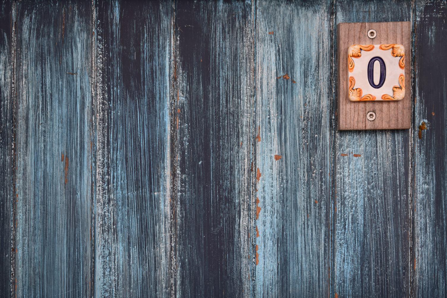 Door with Number 0