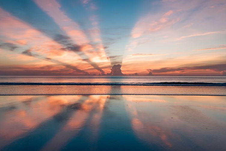Incredibly Beautiful Sunset on the Beach