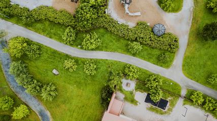 Aerial View of Garden