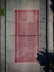 Drone View of Old Tennis Court