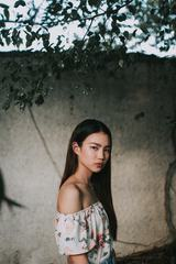 Beautiful and Angry Asian Young Woman Portrait