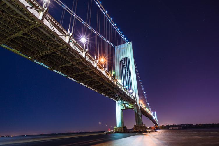 Suspension Bridge by Night