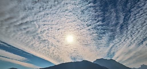 Sky with Altocumulus Clouds above Mountains