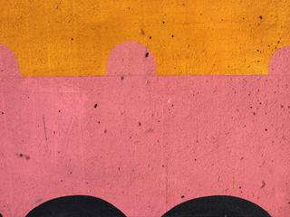 Abstract Pink and Yellow Wall Texture
