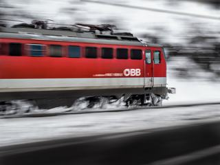 Riding Red Train Motion Blur