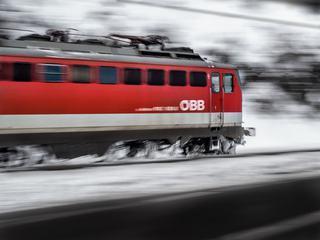 Riding Red Train Motion Blur
