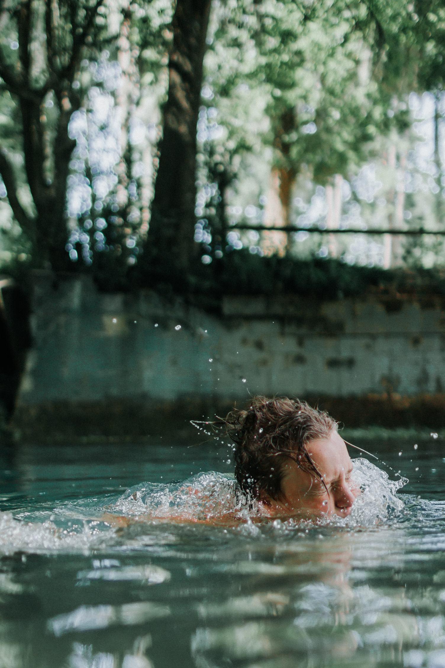 Drowning Young Man