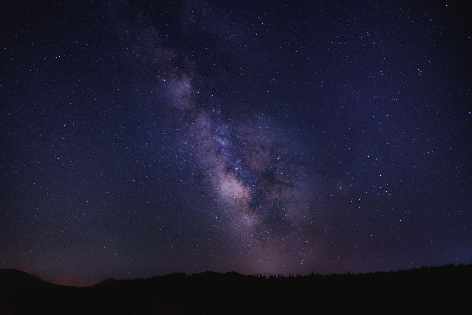 Violet Sky with Stars at Night