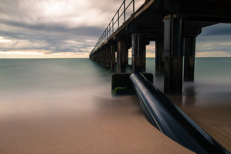 Long Exposure Image of Pier