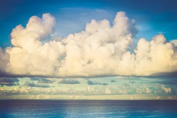 Amazing White Clouds over the Sea